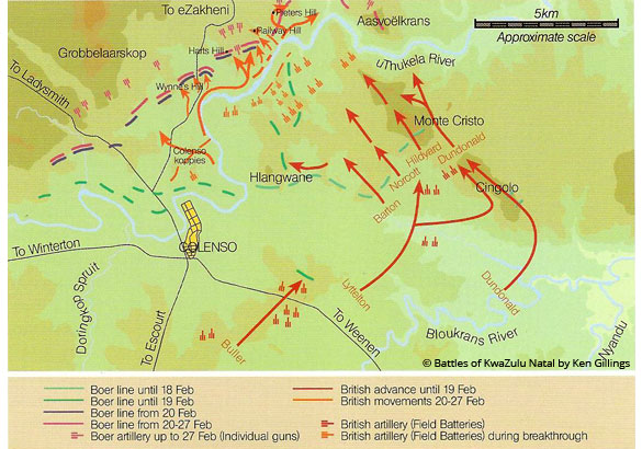 Battle of the Tugela Heights Battle of uThukela Tugela Heights Battlefields Route