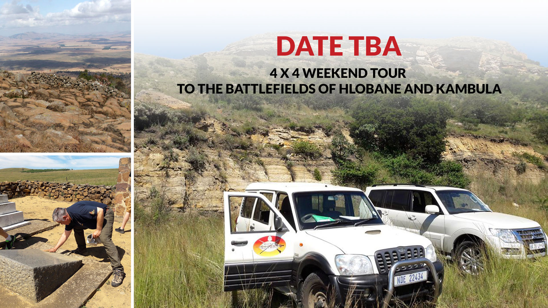 A special anniversary 4 x 4 weekend tour to the battlefields of Hlobane and Kambula